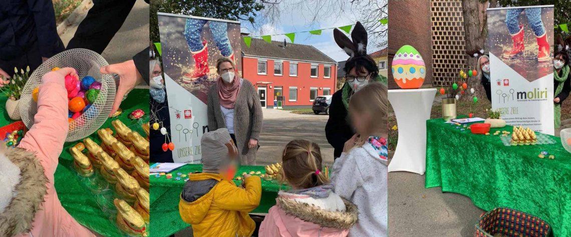 Kinder freuen sich über gefüllte Osternester